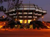UCSD's Geisel Library. It has been featured in several science-fiction movies because of its exotic appearance, and is the basis of the school's current logo. It is considered to be one of the finest, if not the finest, examples of Brutalist architecture.