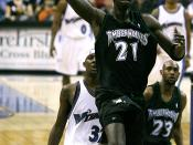 English: Kevin Garnett playing with the Minnesota Timberwolves