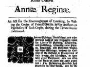 English: Statute of Anne, the first modern copyright law. Español: Estatuto de la Reina Ana. Inglaterra, 1710. Primera ley de copyright conocida en Occidente. Magyar: Anna statútuma, az első modern szerzői jogi törvény.