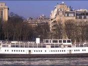 The SS Nomadic, originally a tender of the White Star Line Olympic and Titanic ships, docked on the Seine River in Paris in 2000. At the time of this photo, the Nomadic was not in use, although it had recently been a restaurant. Photographer: Agateller (A