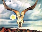 Georgia O'Keeffe, Ram's Head White Hollyhock and Little Hills, 1935, The Brooklyn Museum