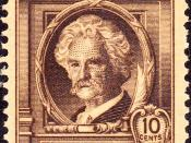 English: US Postage stamp, Samuel Clemens, commemorative issue of 1940.