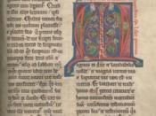 A 13th century manuscript from Augustine's book VII of Confessions criticizing Manichaeism.