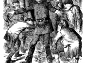 Cartoon criticising the police for their inability to find the Whitechapel murderer.