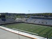 A view of the playing field at Waldo Stadium, located in Kalamazoo, MI.