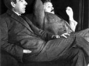 Niels Bohr and Albert Einstein. The picture was taken at Ehrenfest's home in Leiden, the occasion was most likely the 50th anniversary of Hendrik Lorentz' doctorate (December 11, 1925).