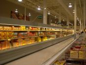 Frozen foods at the Real Canadian Superstore in Winkler, Manitoba