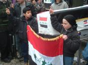 Antikrigsdemonstration, Irak, antiimperialism