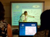 English: MAYPORT, Fla. (May 2, 2007) - Julie Dickson, a mentor with COMPASS, speaks to spouses attending the COMPASS Course on board Naval Station Mayport. The course aims to improve the quality of life for Navy spouses by educating them on Navy rights an
