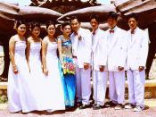 Khmer wedding photo Kep Cambodia 2004