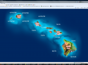 English: The firstlive.tv homepage features access to chat rooms specific to each of the four main islands in the Hawaiian chain.