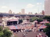 English: A photograph of the Pabst Showcase at Summerfest in Milwaukee, as it looked circa 1994. Photo taken by me, HollyAm, from the Sky Glider. Category:Images of Milwaukee