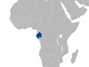 English: Location of Gabon in Africa. Polski: Położenie Gabonu w Afryce.