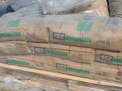 English: A pallet of Portland cement bags used for construction.