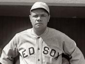 English: American baseball player Babe Ruth, publicity photo, 1918, Boston Red Sox