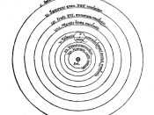 Copernicus' view of the universe as presented in his De revolutionibus orbium coelestium