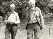 English: Nikolaas Tinbergen (left), Konrad Lorenz (right)