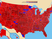 Election results by county. Richard Nixon George McGovern