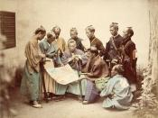 English: Samurai of the Chosyu clan, during the Boshin War period