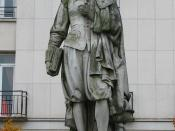 Statue of René Descartes with his famous statement: