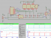 English: simulation of a capacitive ADC converter