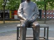 Statue of Brecht outside the Berliner Ensemble's theatre in Berlin.