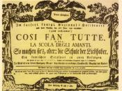 Deutsch: Theaterzettel der Uraufführung von Così fan tutte am Burgtheater Wien, 26. Januar 1790