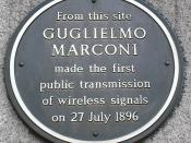London ... GUGLIEMO MARCONI - radio pioneer.