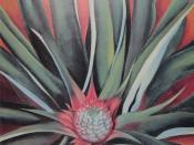 Pineapple Bud, oil on canvas painting by ''Georgia O'Keeffe, 1939