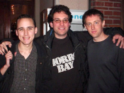Hacker Adrian Lamo (left) with contemporaries Kevin Mitnick (center) and Kevin Poulsen