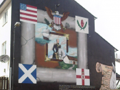 English: Mural depicting American President Andrew Jackson off the Shankill Road, Belfast, Northern Ireland