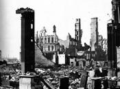 English: After the great Chicago fire of 1871, corner of Dearborn and Monroe Streets Deutsch: Nach dem großen Stadtbrand in Chicago 1871, Ecke Dearborn und Monroe Street Plattdüütsch: Na den groten Stadtbrand vun Chikago 1871, Eck Dearborn un Monroe Stree