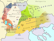 English: Map of dialect divisions in Macedonian and related Slavic varieties of geographic Macedonia. Македонски: Карта на македонските дијалекти.