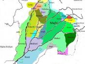 English: Map of Dialects of Punjabi Language.