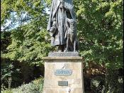 Tennyson Memorial Statue, Cathedral Green, Lincoln
