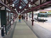 English: Lane Transit District's Eugene Station, the main transit hub in Eugene, Oregon. Category:Images of Eugene