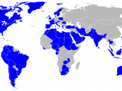 Map of countries which operate the C-130 Hercules aircraft, colored blue(except INDIA).