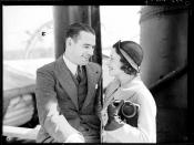 Australian actor Brian Abbot and his wife Grace Rikard Bell on board SS MORINDA at no. 10 wharf Walsh Bay