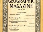 Cover of January, 1915 National Geographic Magazine