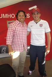 Former soccer players Cobi Jones