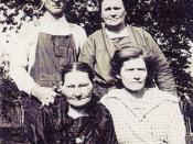 John & Katie Benson (standing), Elizabeth Jane Roberts-Huff & Hiley Hensley