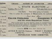 Coolidge-Cox Postcard, ca. 1919