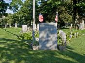 English: monument in East Norwalk Historical Cemetery