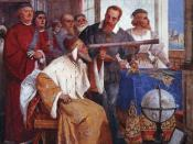 Galileo Galilei showing the Doge of Venice how to use the telescope