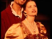 English: Bassanio (John Farmanesh-Bocca) and Portia (Julie Hughett) from the Pacific Repertory Theatre production of
