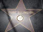 English: Musician Duke Ellington's star on the Hollywood Walk of Fame