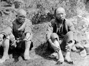 Chinese lepers at D'Arcy Island, British Columbia, Canada