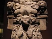 English: Aztec statue of Coatlicue, the earth goddess from the Museo Nacional de Antropología in Mexico City.