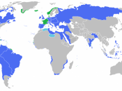 English: Locator map of the competing sides of the French Revolutionary Wars (1792-1802). Blue : Spain, Prussia, Holy Roman Empire, Great Britain, Russia, Portugal, Sardinia, Sicily, Naples, Ottoman Empire, Netherlands. Green : France. (Partially based on