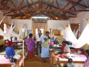 Malaria Clinic in Tanzania helped by SMS for Life program, an IBM Extreme Blue project.
